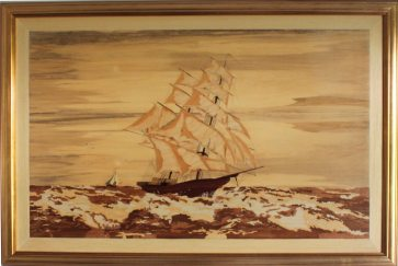 Galleon on the high sea