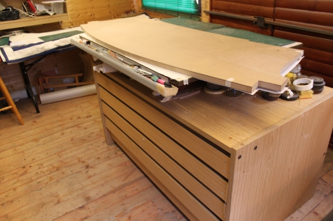 MDF base for replica Chippendale curved back table