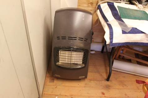 Heater ready for winter months.