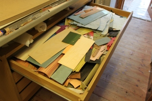 Drawer full of veneers