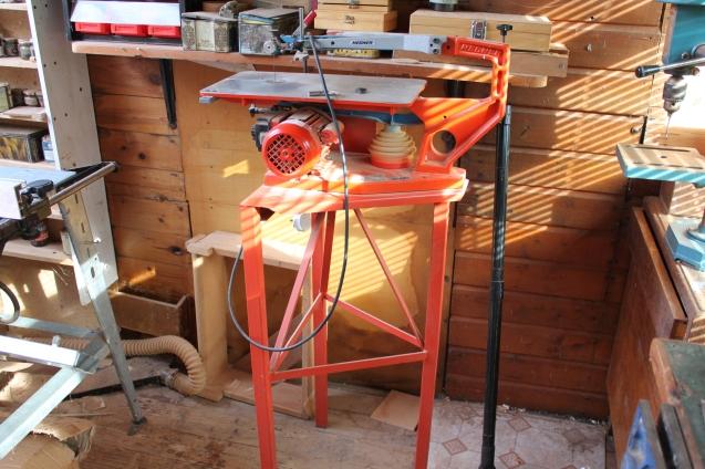 Hegner power Fretsaw in machine room