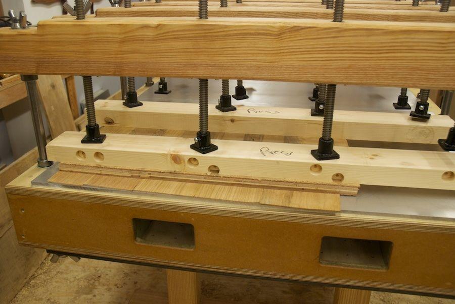 veneers under heated pressure